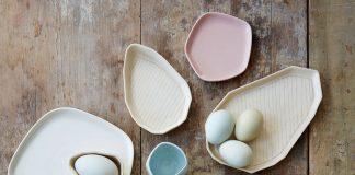 Ceramic Plates with Pastel Color Scheme