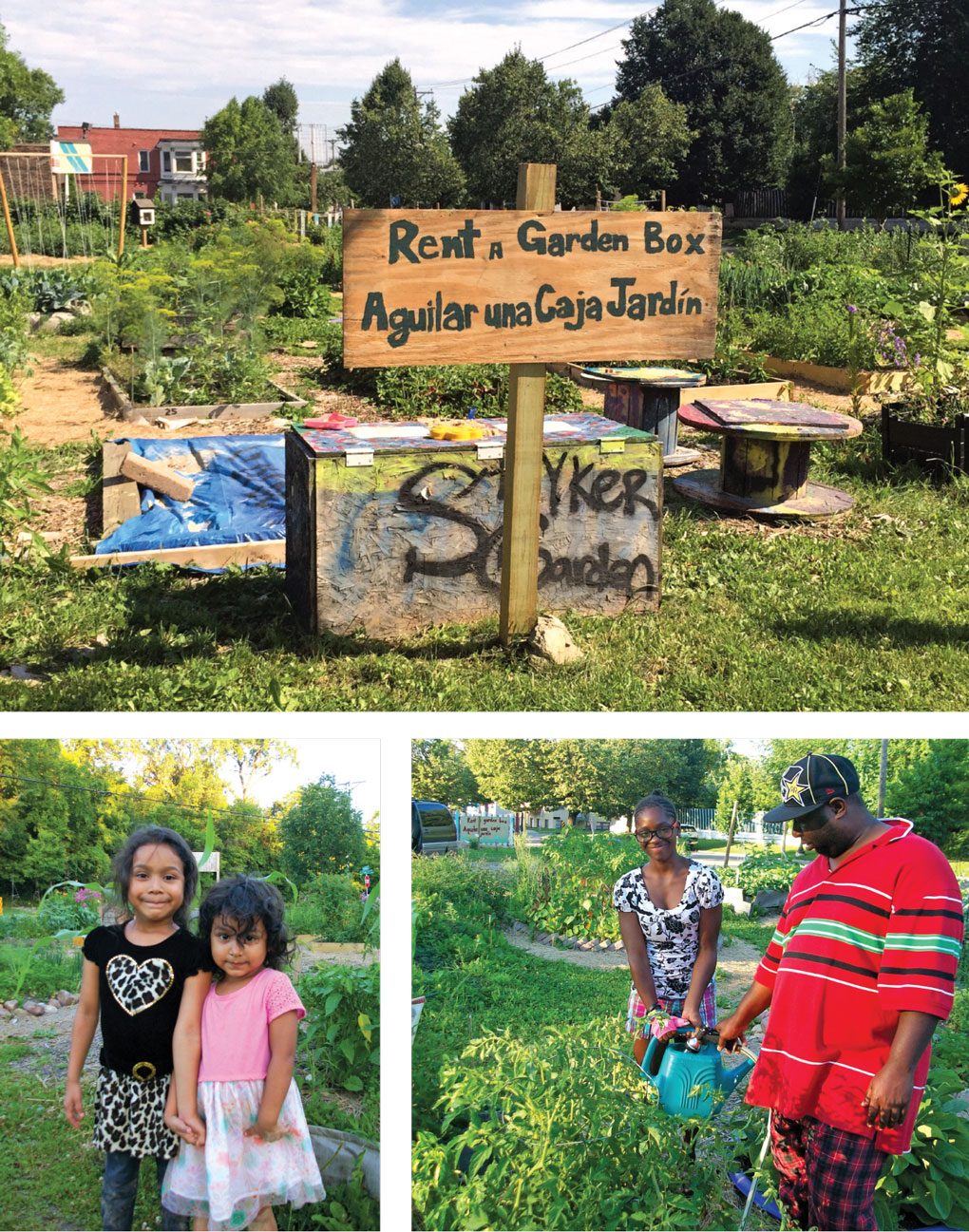 Stryker Community Garden and its gardeners