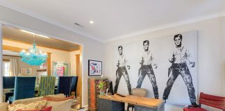 Office with Andy Warhol's 'Elvis'