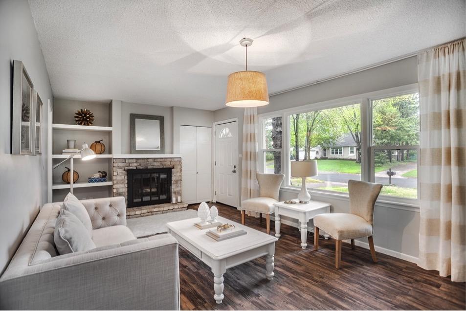 White interior living room