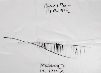 bamboo house napkin sketch