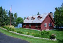 restored Lundie cabin side
