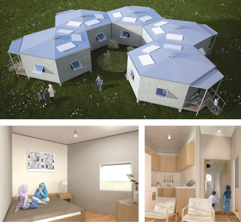 Refugee housing by Architects for Society