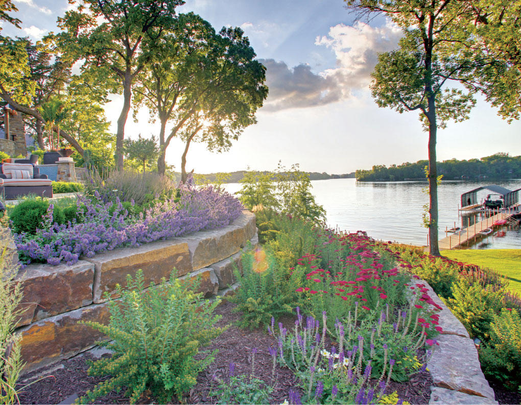 Lakeside landscaping