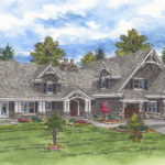 Lecy Bros exterior rendering of remodeled orono home