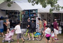 Attendees at the Powderhorn Art Fair