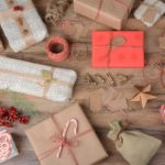 A picture full of wrapped presents displaying different gift wrapping techniques.