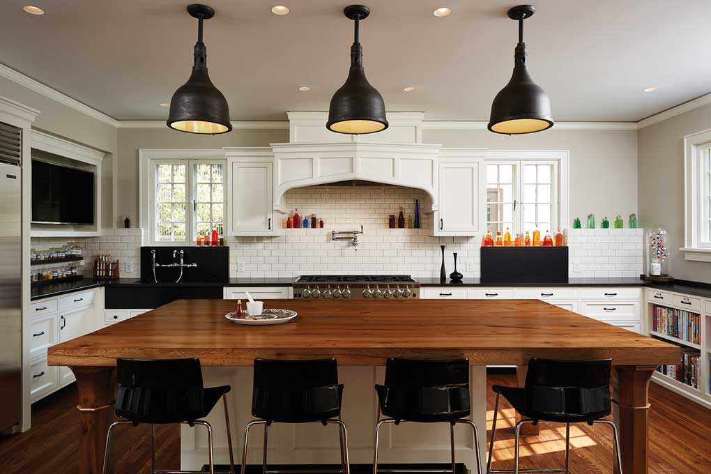 A kitchen was redesigned by Christopher Strom Architects to create a more efficient space.