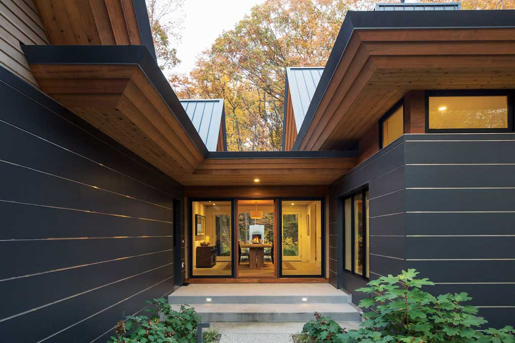 An exterior of a home built by Sala Architects.
