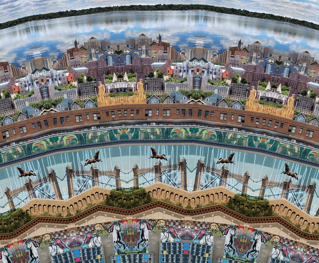 Neal Calvin Peterson's Minneapolis Mandala Collage.