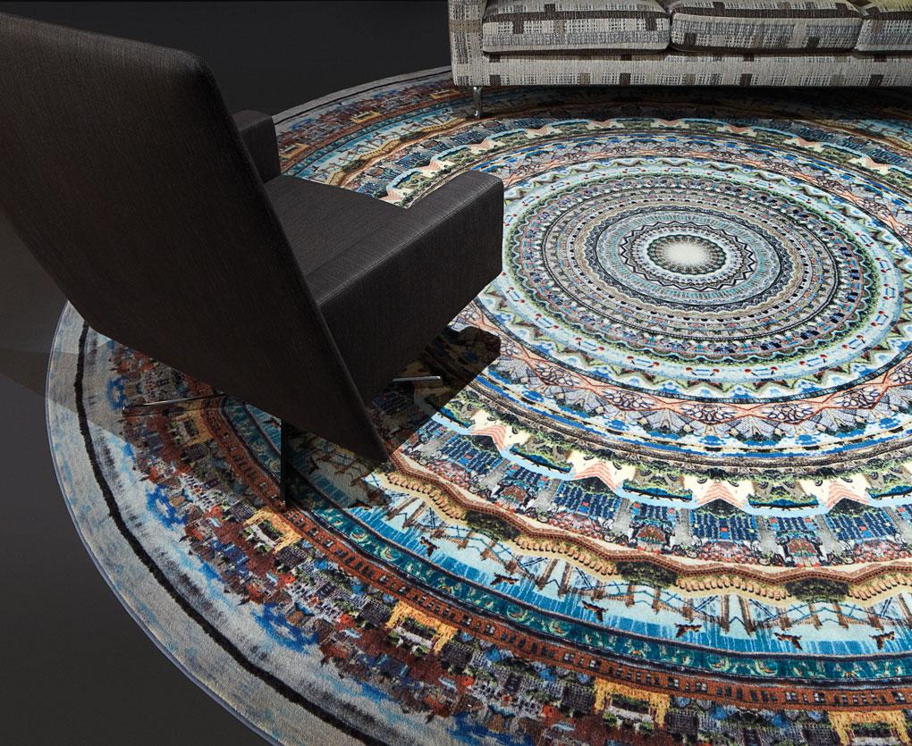 Neal Calvin Peterson's Minneapolis Mandala rug.