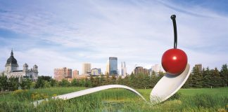 Walker Art Center Minneapolis Sculpture Garden Spoonbridge And Cherry