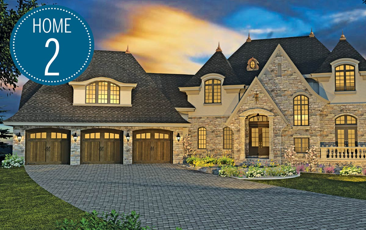 Landmark Build Co Rendering of home on Luxury Home Tour