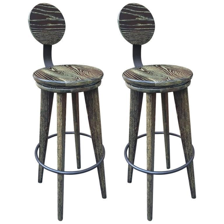 cerused wood stools 1st dibs