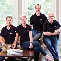 A portrait of the team at Bruce Kading Interior Design.
