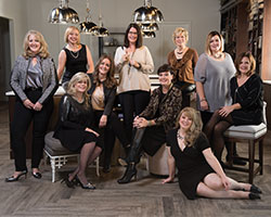 A portrait of the team at Studio M Interiors.