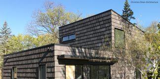 modern house with wood siding