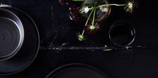 black tabletop