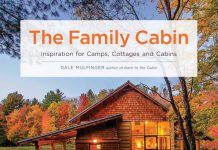 The front cover of Dale Mulfinger's The Family Cabin book.