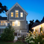 Photo of a renovated home exterior by Jones Design Build