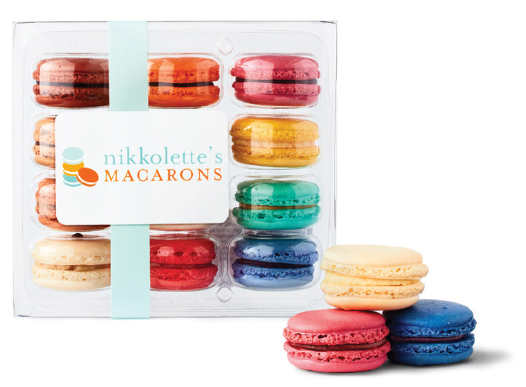 A box of Nikkolette's Macarons.