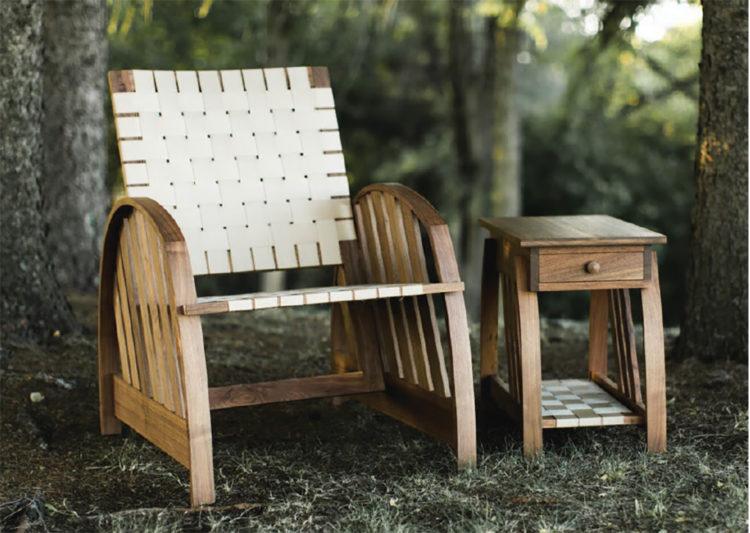 A sabbath chair made by Grant Kaihoi.