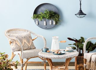 A French patio set with items from The Foundry Home Goods, Target, Etsy and more.
