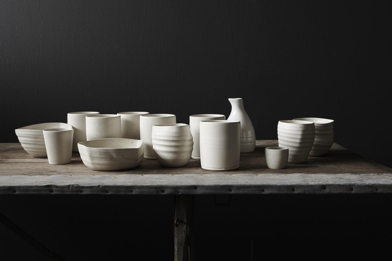 Wabi-sabi table and ceramics