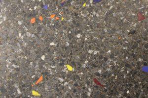 close up of terrazzo flooring