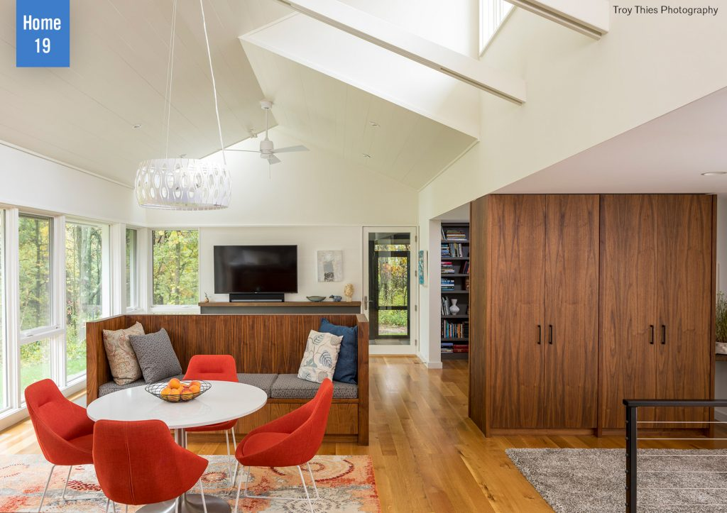 Living room with table and chairs. Home No. 19 on the AIA Homes by Architects Tour.