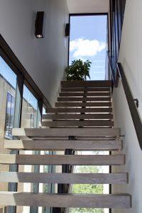 Open staircase in Kroiss Development's Kenwood residence