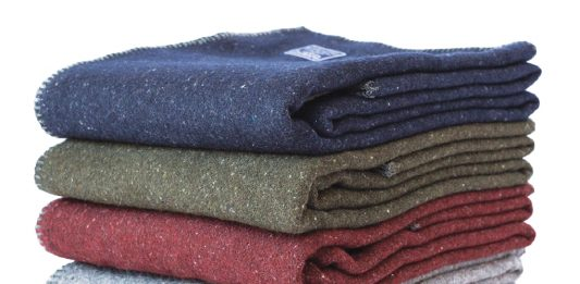 A collection of wool blankets from Faribault Woolen Mill Co.