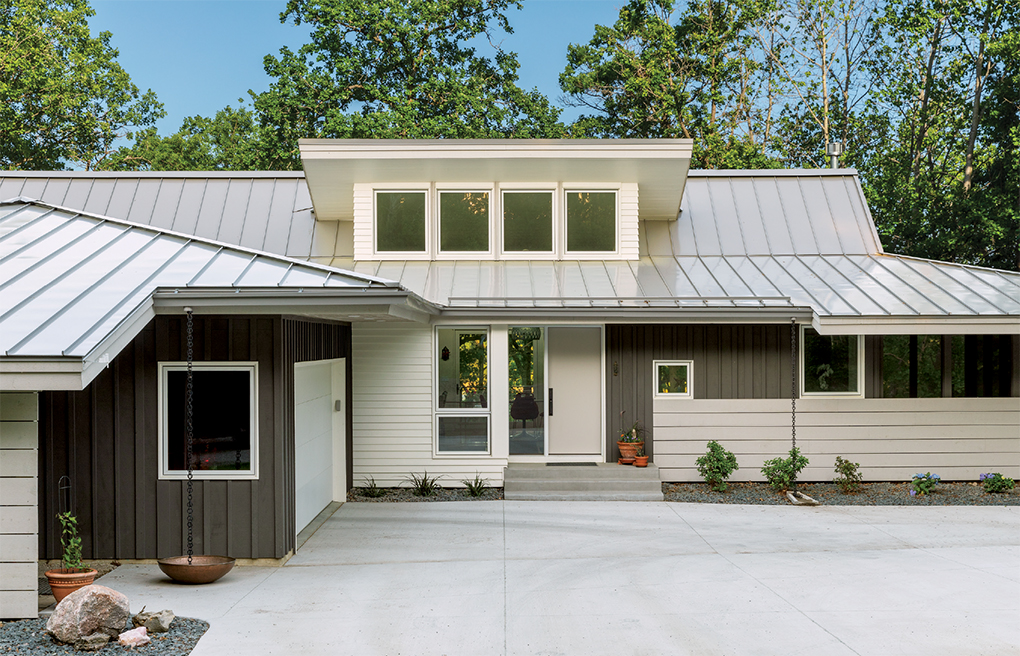 The exterior of a home built by SALA Architects.