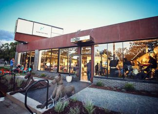 The storefront of Habitation + Design in St. Louis Park, Minnesota.