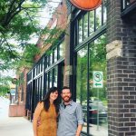 Ryan and Suzanne Huggett, owners of The Makers Studio, outside its storefront in Excelsior, Minnesota.