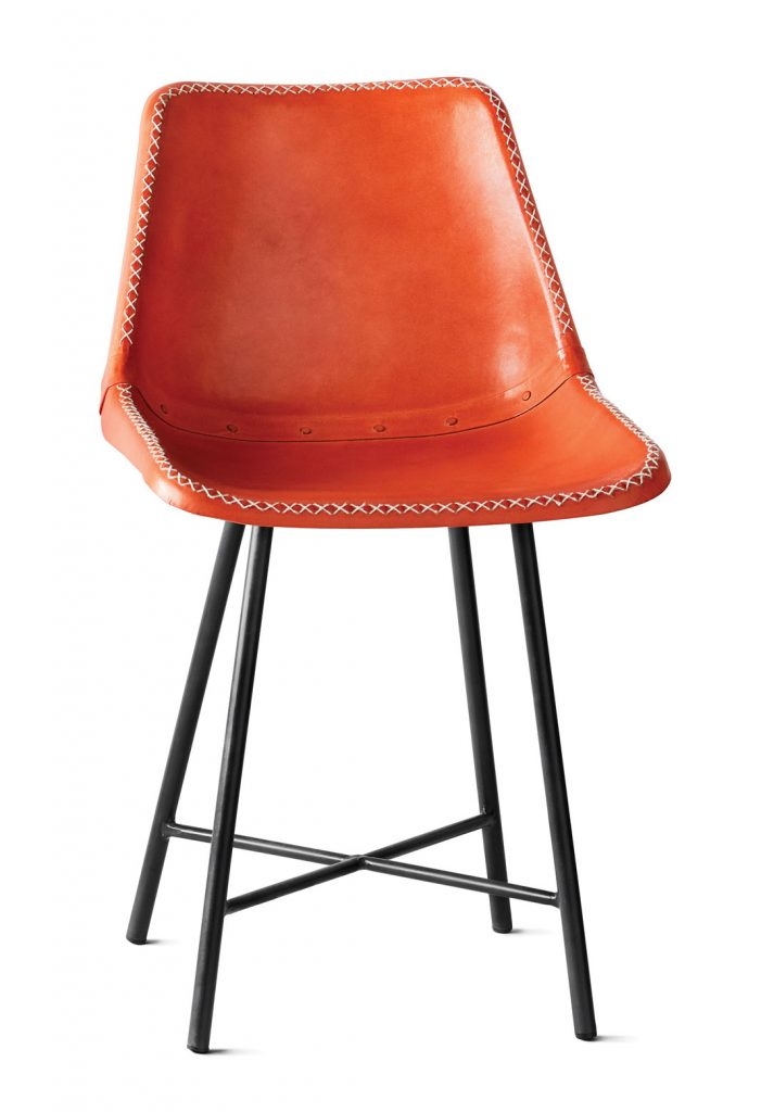 Whipstitch counter stool, $279, Ciel Loft & Home