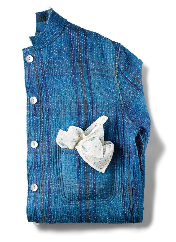 Vintage kantha jacket, $175, Khazana