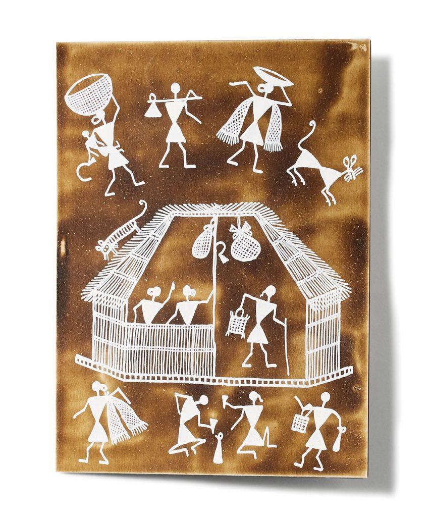 Warli Painting cards, $25, Khazana