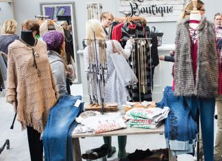 A pop-up shop with seasonal offerings at Minneapolis Holiday Boutique.