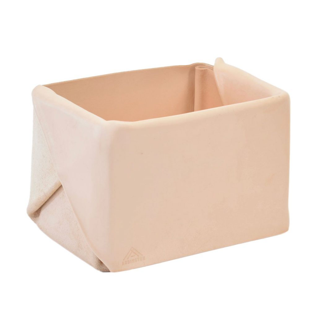 Läderlåda folded leather catchall from Addington Co.