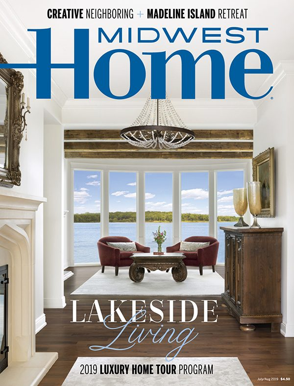 Midwest Home magazine cover, July/August 2019