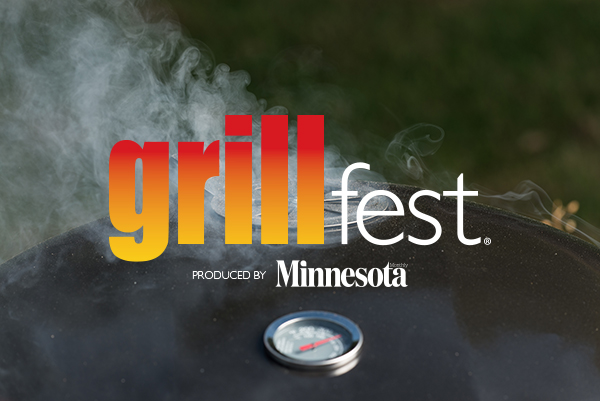 Smoke coming out of a grill with Grillfest logo overlaid