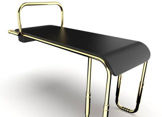 Judith Bench in black and gold