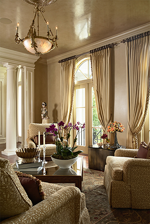 Image of elegant, beige living room
