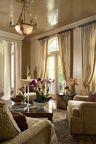 Image of elegant, beige living room