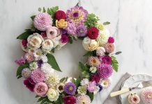 Cupcake Flower Wreath