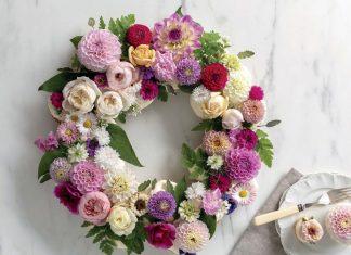 Cupcake Flower Wreath