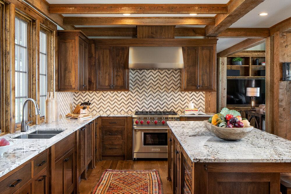 Kitchen in the Lake Pulaski house. photo by Jordan Powers.