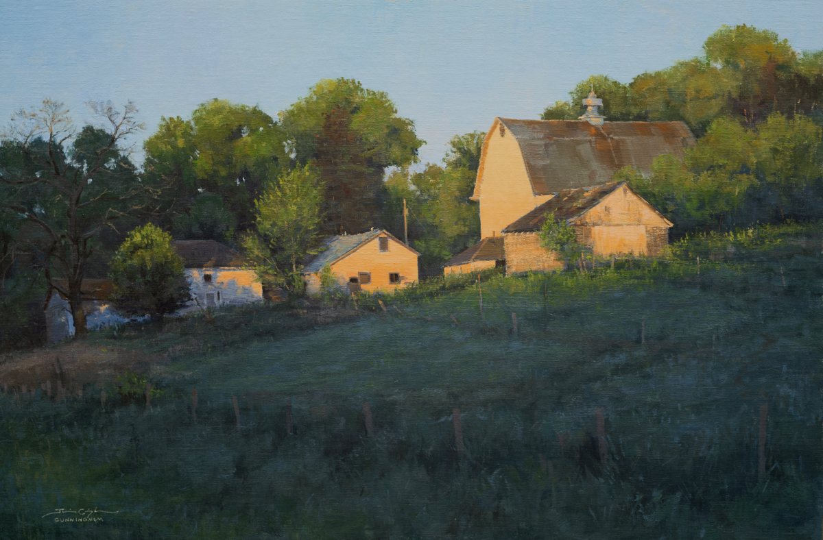 """Abandoned to Sunset"" by Josh Cunningham, part of the 2020 Red Wing Plein Air Festival"