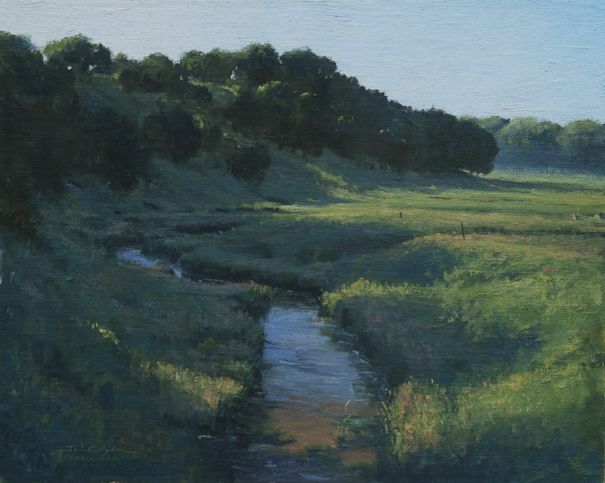 """Day Breaking Across Wells Creek"" by Josh Cunningham received second place and part of the $2,700 total cash prize of the 2020 Red Wing Plein Air Festival."
